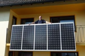 Balkon-Kraftwerk (Pressefoto)